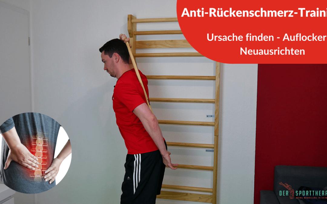 Anti-Rückenschmerzen-Training – Testen und Übungen gegen deine LWS Beschwerden